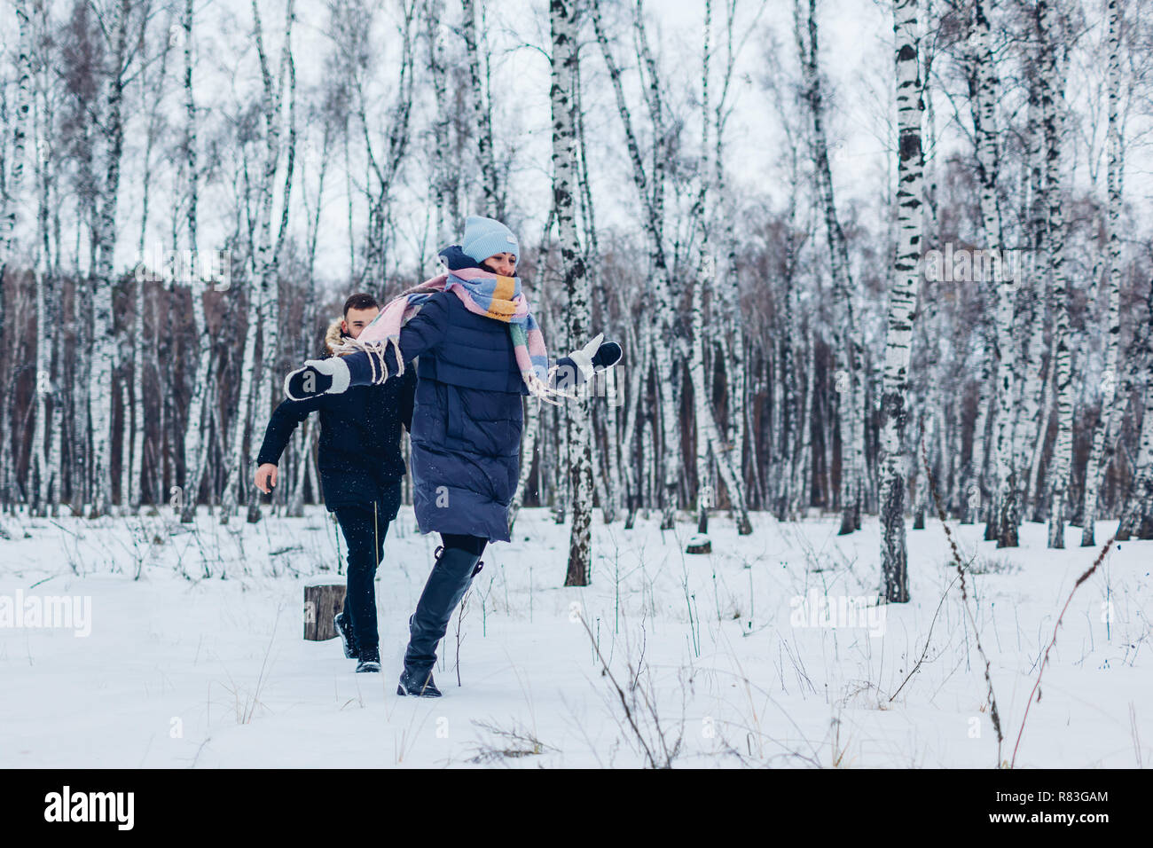 Fore ma petite amie dans la forêt