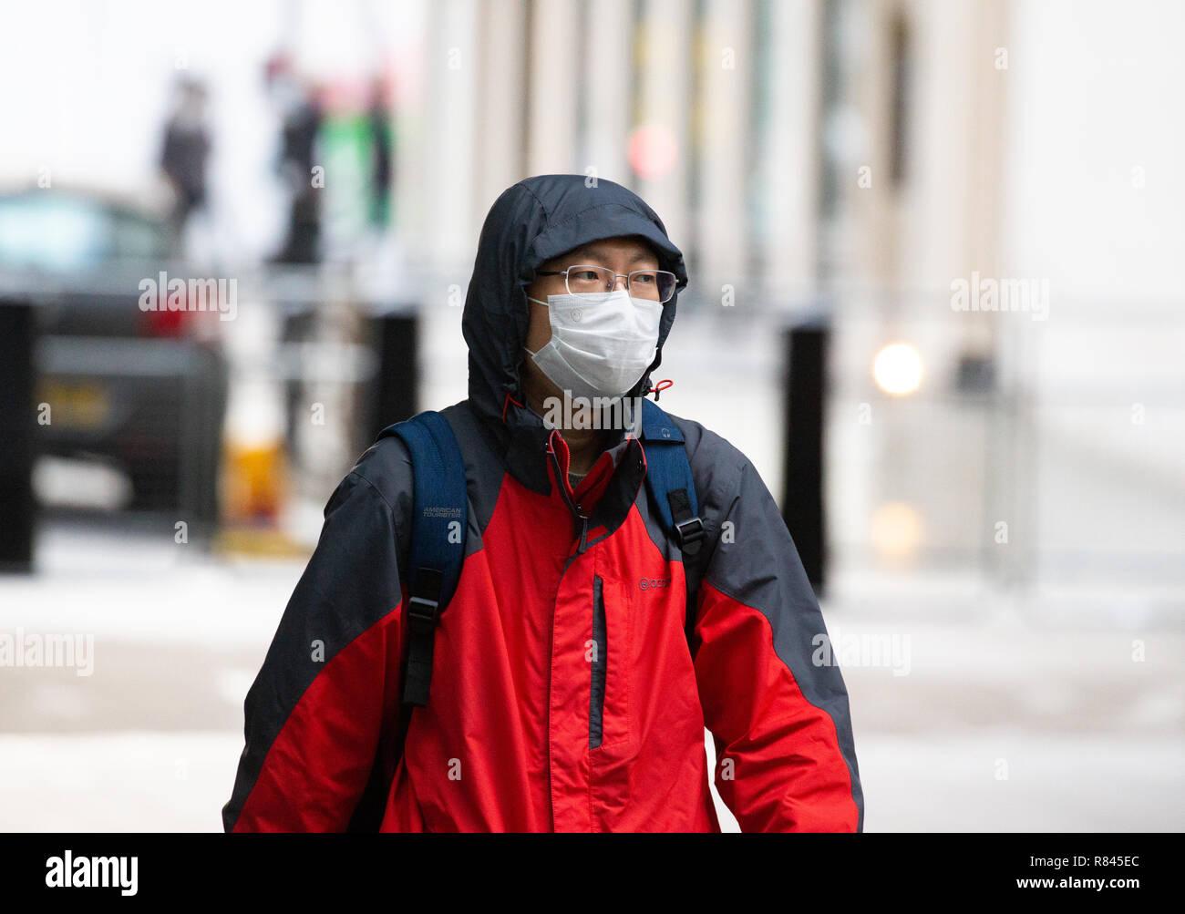 masque anti pollution angleterre