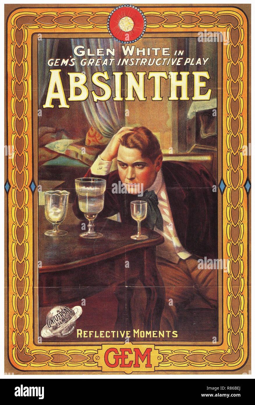 absinthe affiche publicitaire ancienne banque d 39 images. Black Bedroom Furniture Sets. Home Design Ideas
