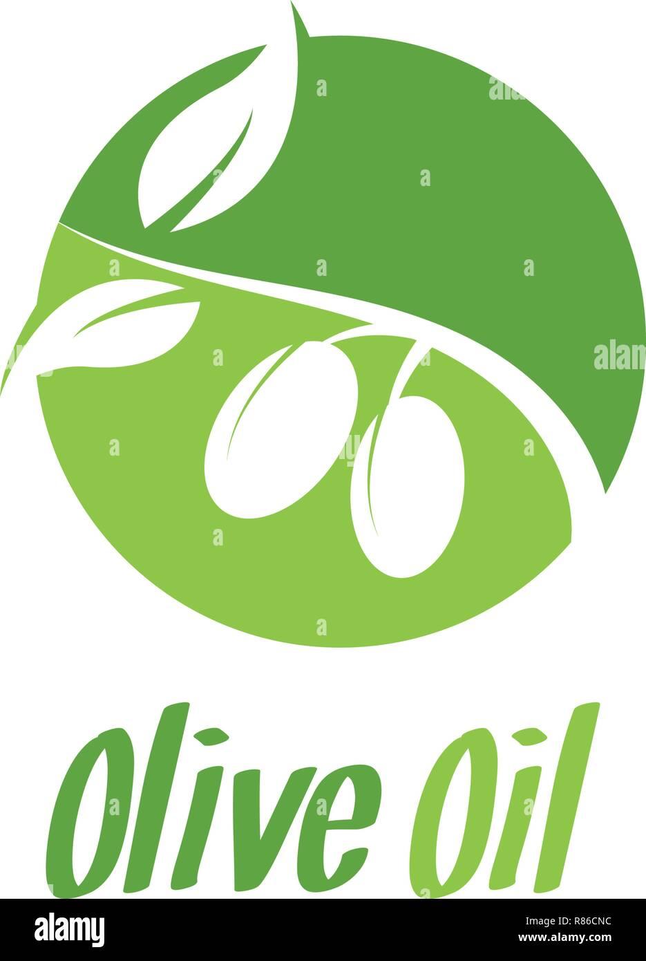 L Huile D Olive Logo Design Template Vector Illustration Vecteurs Et