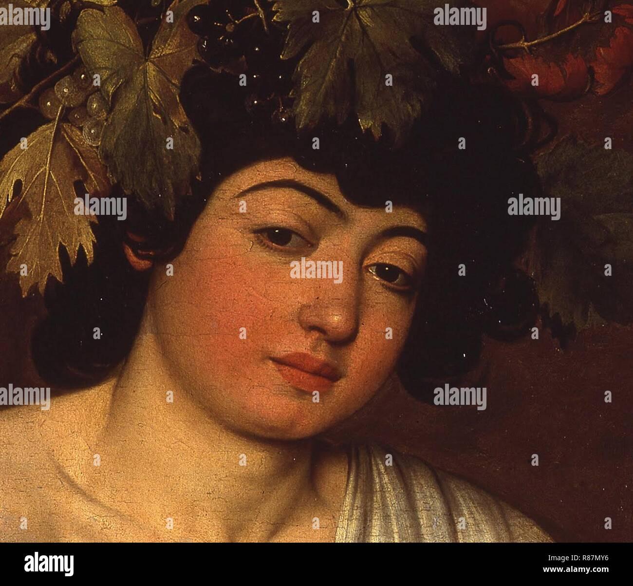Caravaggio - Bacco adolescente Photo Stock