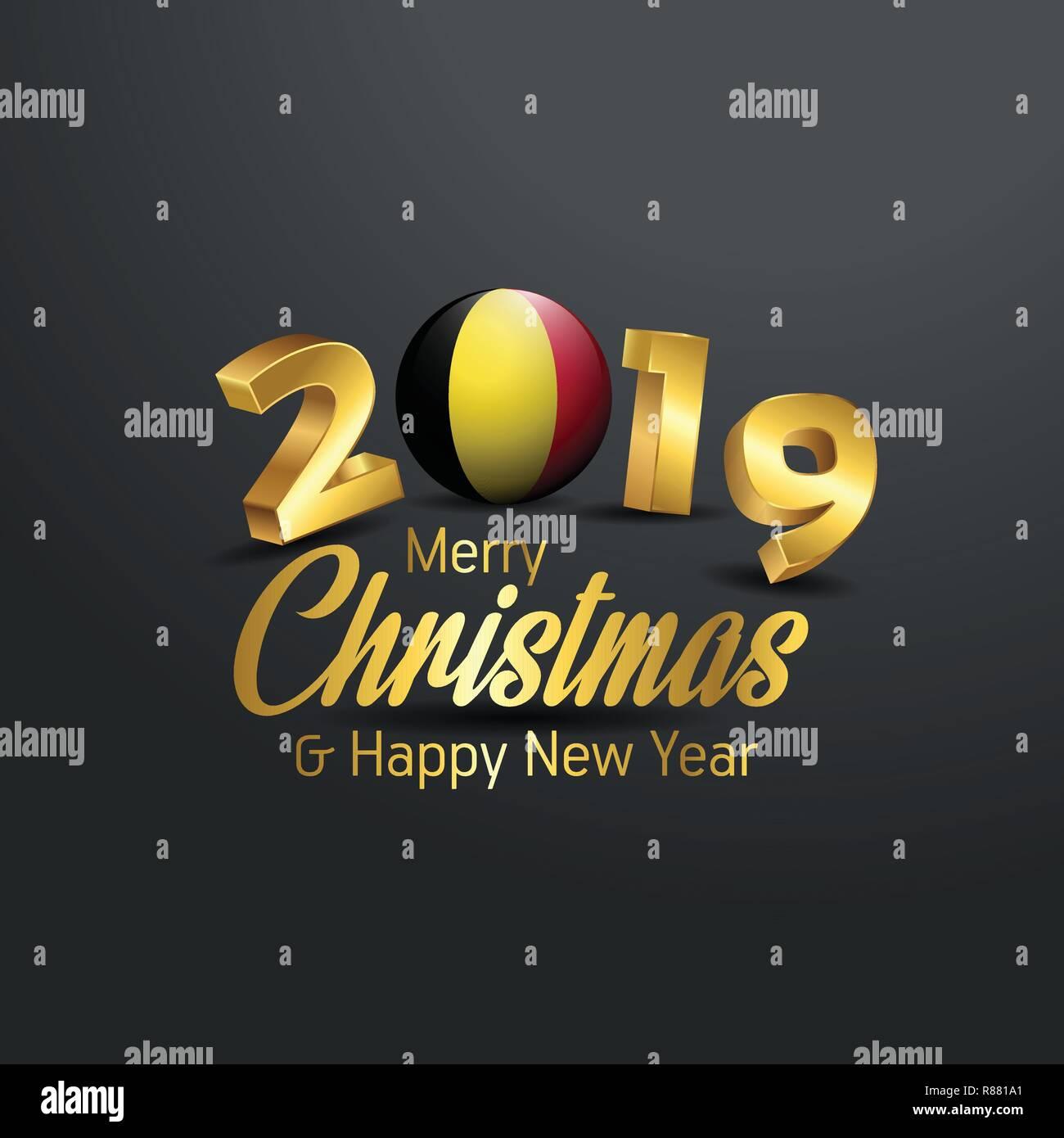 Image De Joyeux Noel 2019.Drapeau Belgique Joyeux Noel 2019 La Typographie Nouvel An