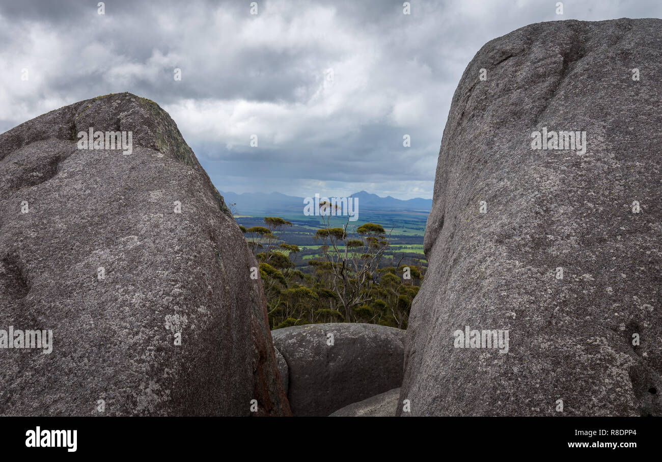 Rocher de granit, à l'ouest de l'Australie Porongurup Photo Stock