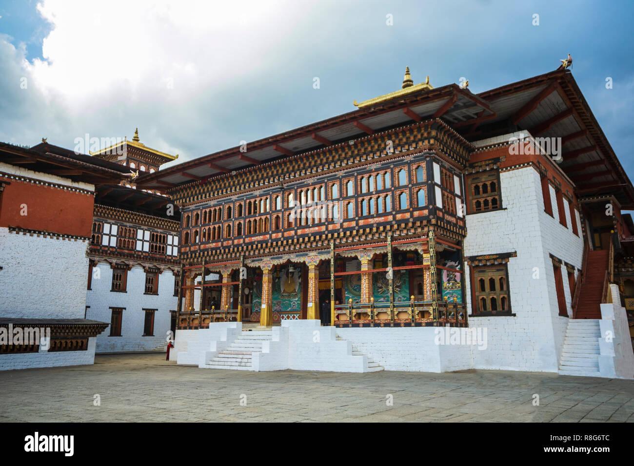 Tashichho Dzong à Thimpu , Bhoutan Photo Stock