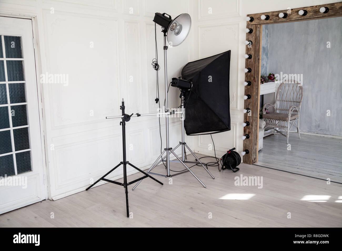 Interieur De Photostudio Clignote En Blanc Decoration Fond