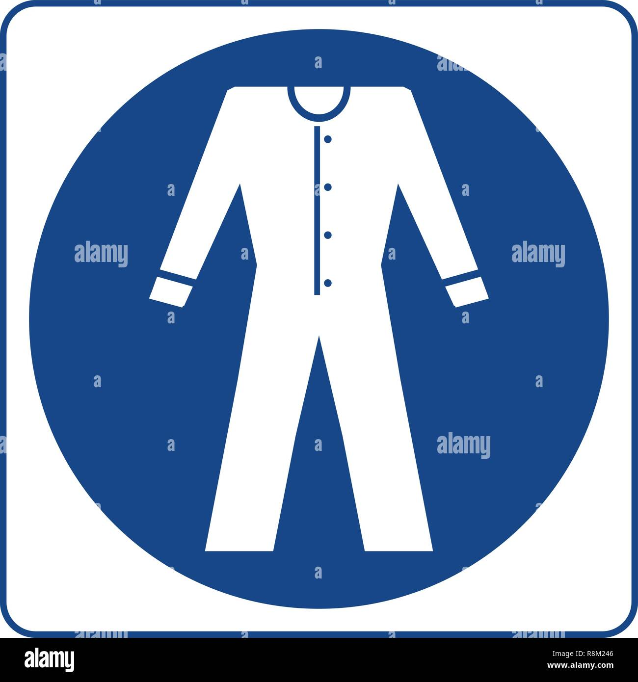 Vecteur d'affichage obligatoire - Porter des vêtements haute visibilité, vêtements de symbole, étiquette, autocollant. Vêtements haute visibilité est obligatoire dans cette zone Photo Stock