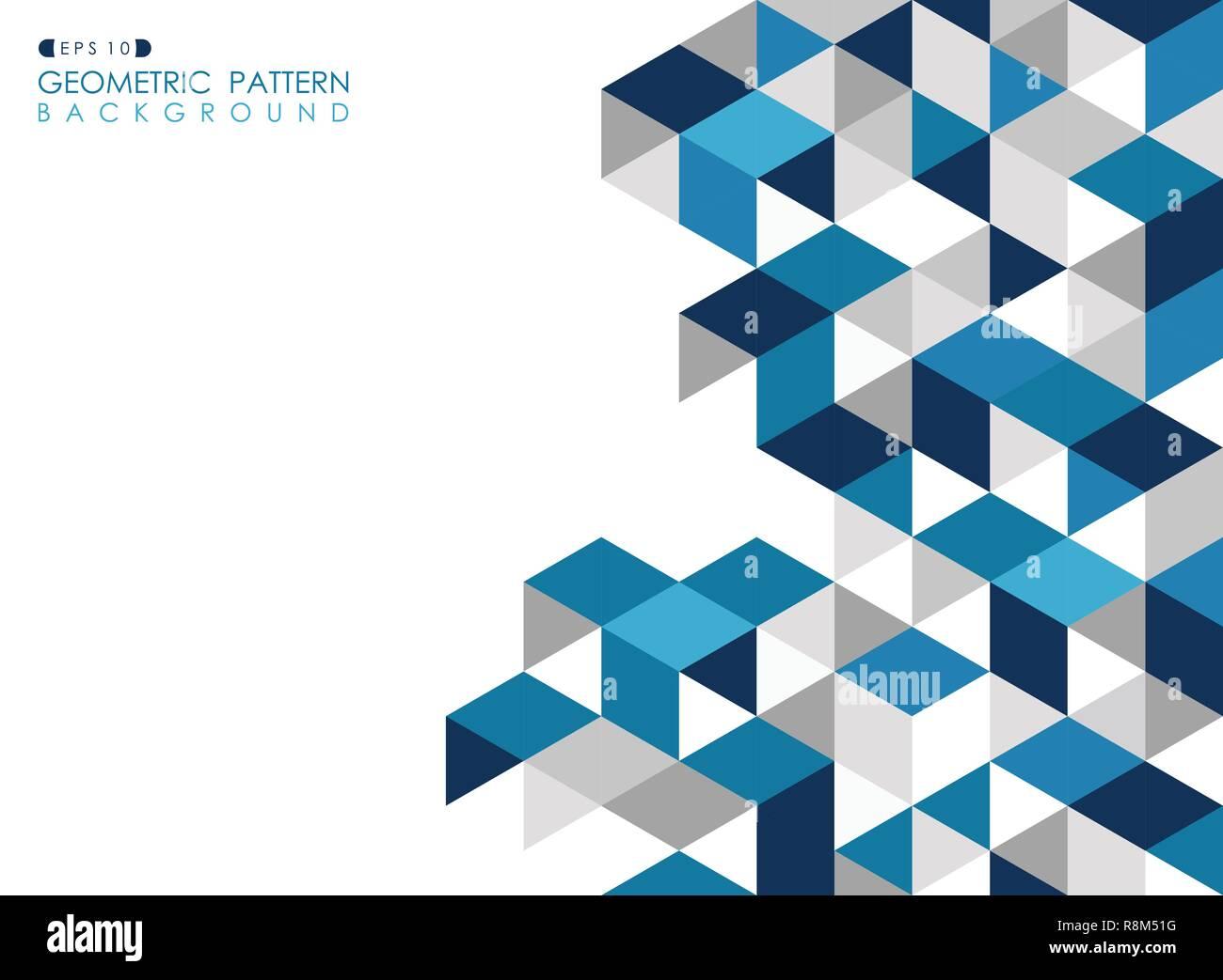 Resume Fond Bleu Fonce Avec Des Triangles Geometriques Polygonales