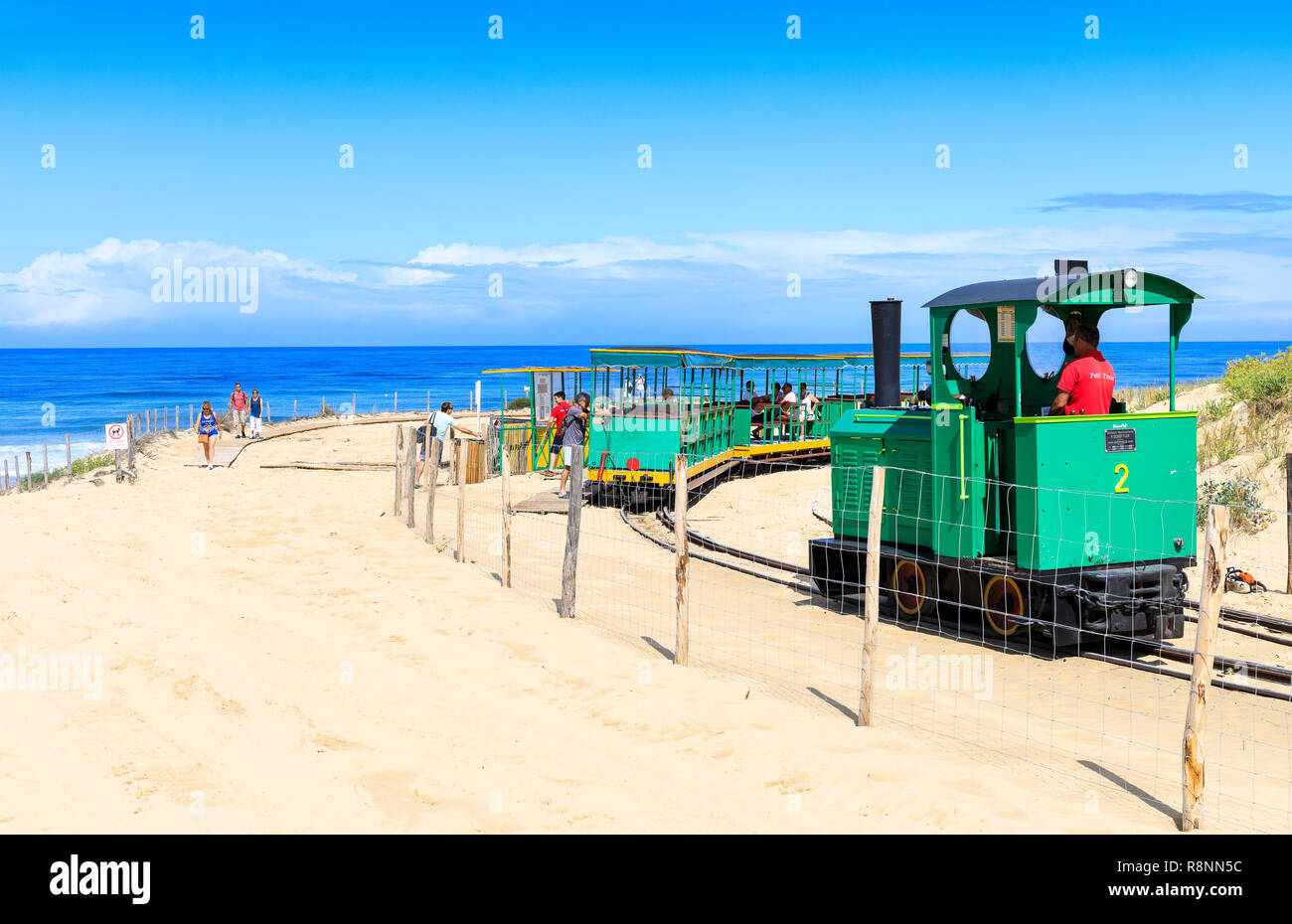 Petit Train, Cap Ferret, France Photo Stock