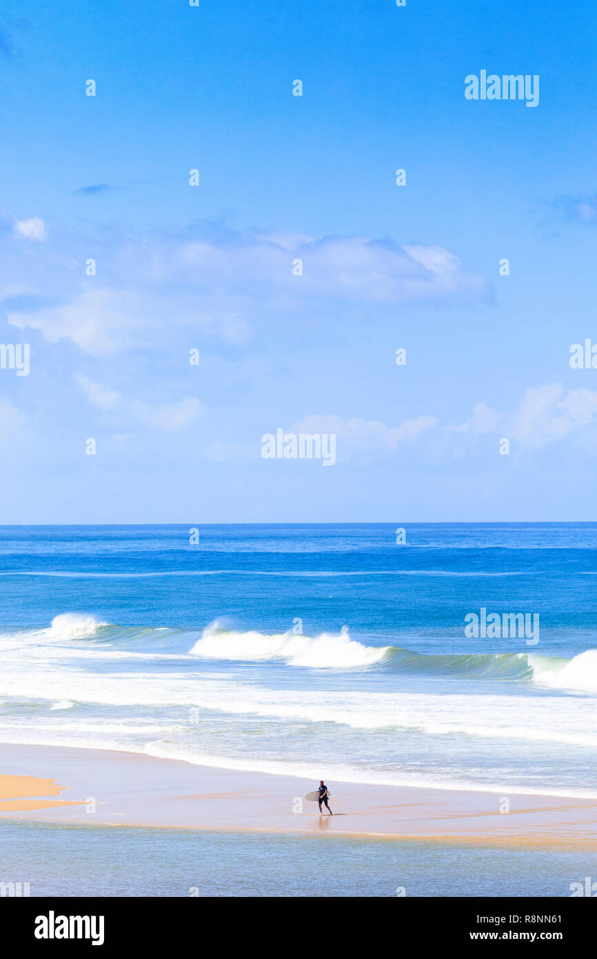 Plage de l'Horizon, Cap Ferret, France Photo Stock