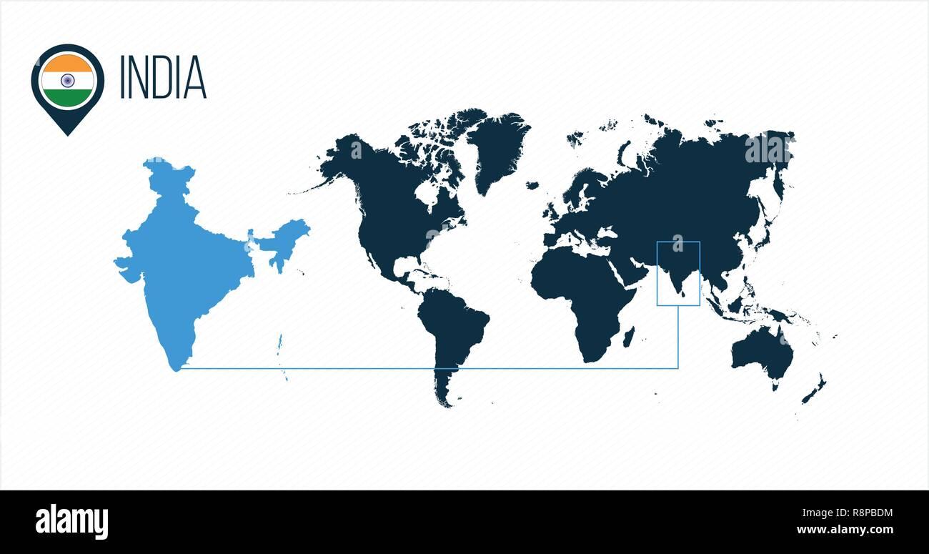 L Inde Moderne Emplacement Carte Vectorielle Pour L Infographie Tous Les Pays Du Monde Sans Noms Ronde Drapeau Dans La Carte Pin Vector Illustration Sur Backg Image Vectorielle Stock Alamy