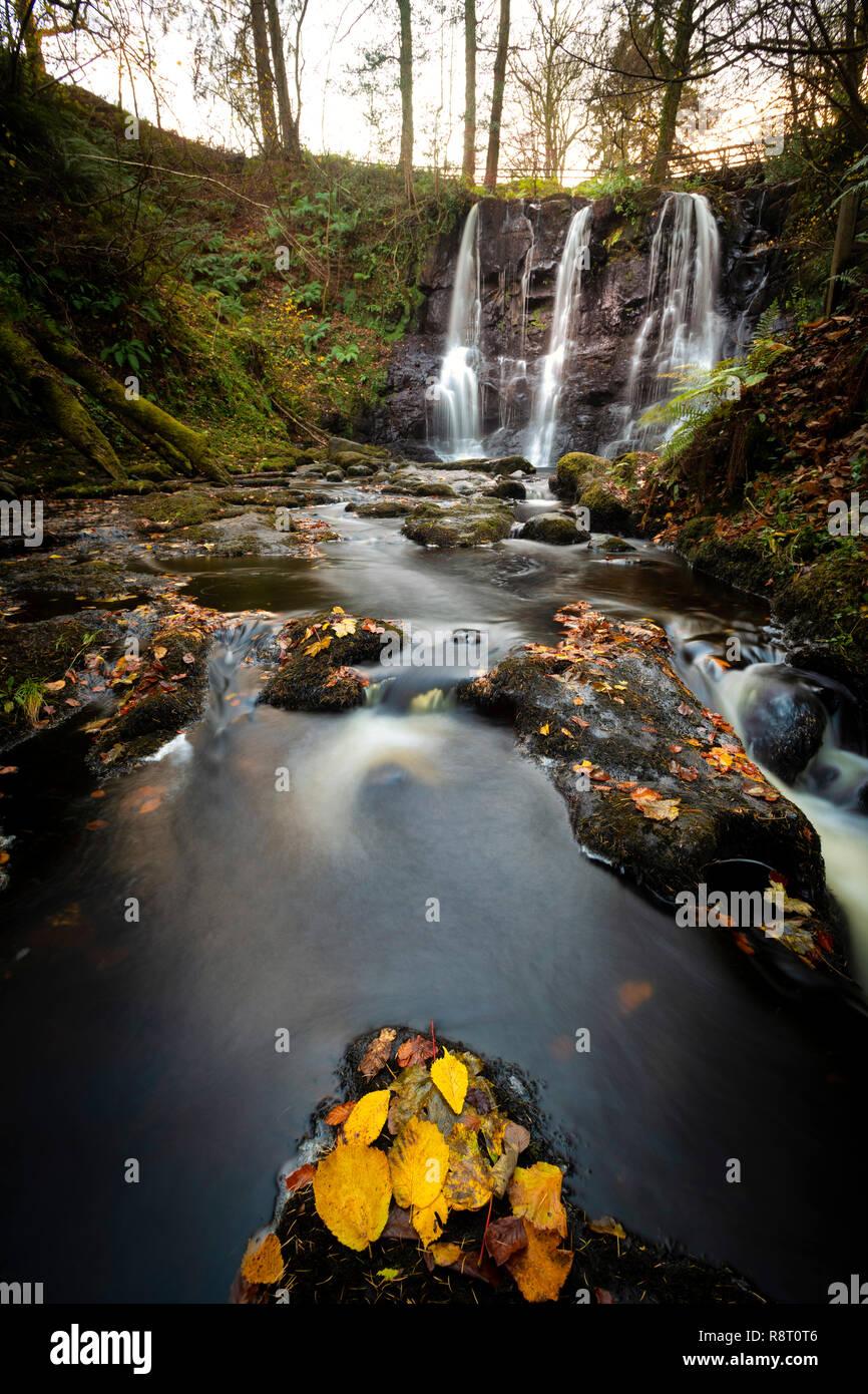 Chute d'eau à Glenariff Forest Park dans le comté d'Antrim Banque D'Images