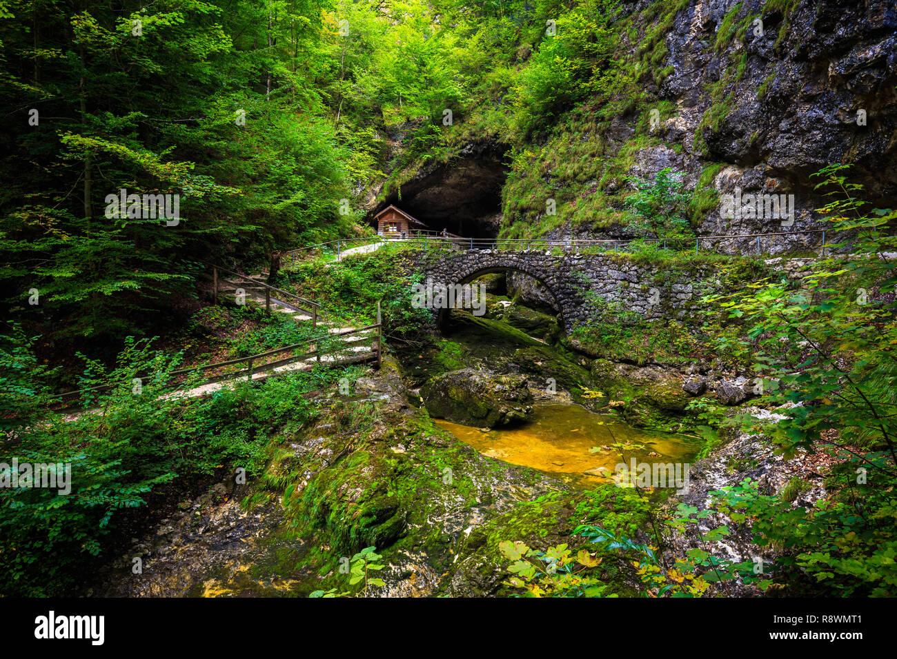 Koppenbrüller Grotte, Autriche Photo Stock