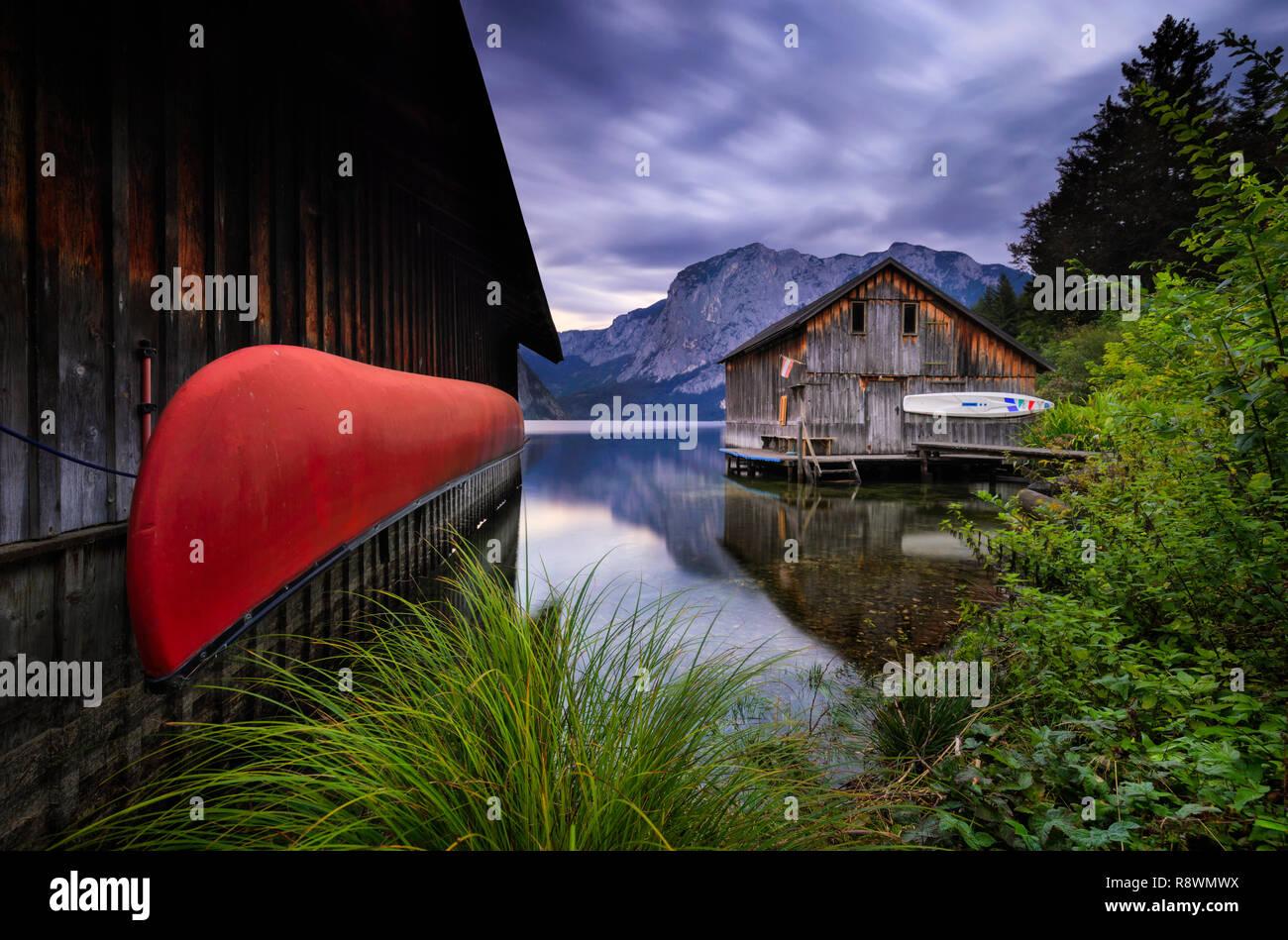 Altaussee Voile Remise, Autriche Photo Stock