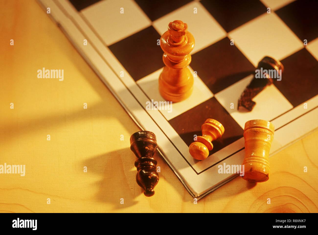 Touches d'échecs, Concept Photo Stock