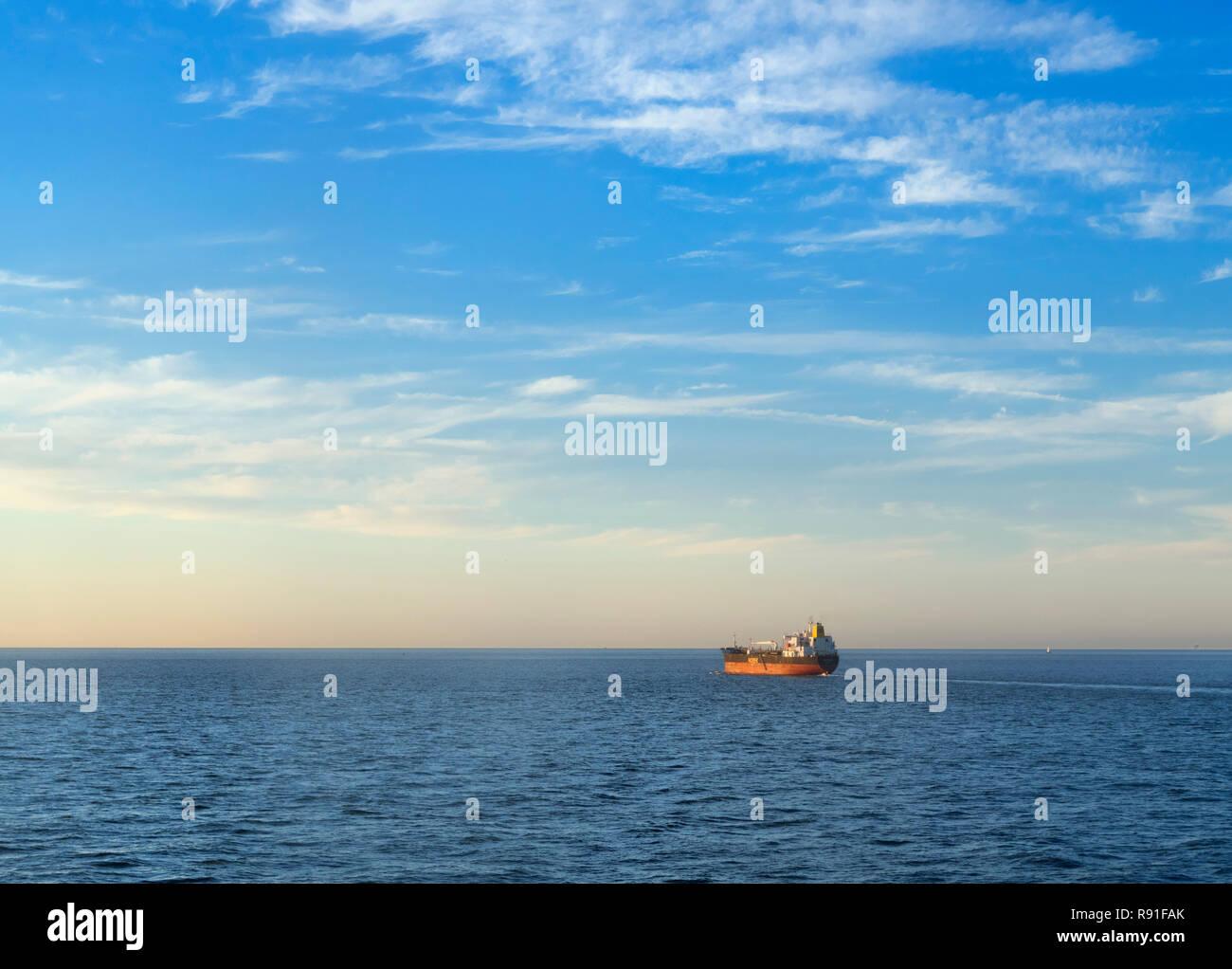 Brise arctique / pétrolier chimique sur la mer du Nord, de l'Europe Banque D'Images
