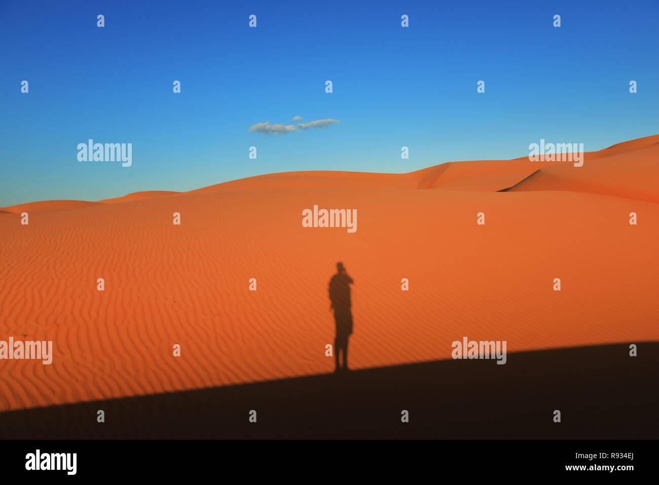 Les sables bitumineux Sharqiya ( Wahiba Sands ) en Oman. Banque D'Images