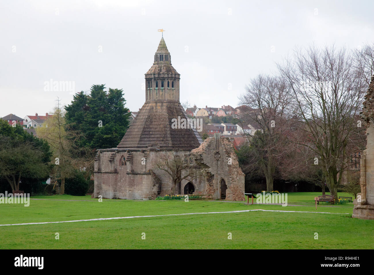 La ville de Glastonbury, Somerset, UK Photo Stock