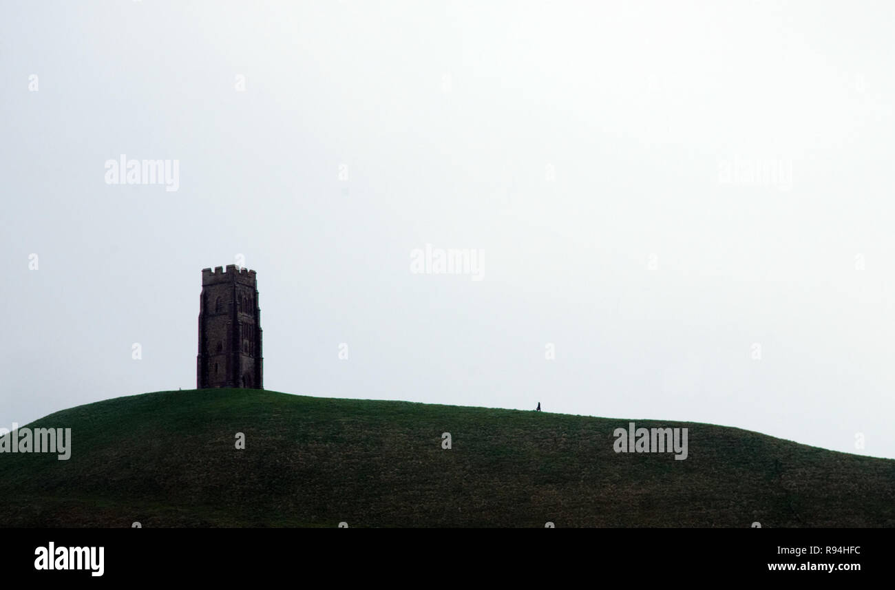 La ville de Glastonbury, Somerset, UK Photo Stock