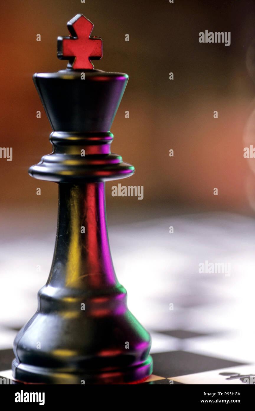 Pièce clé d'échecs roi, concept Photo Stock