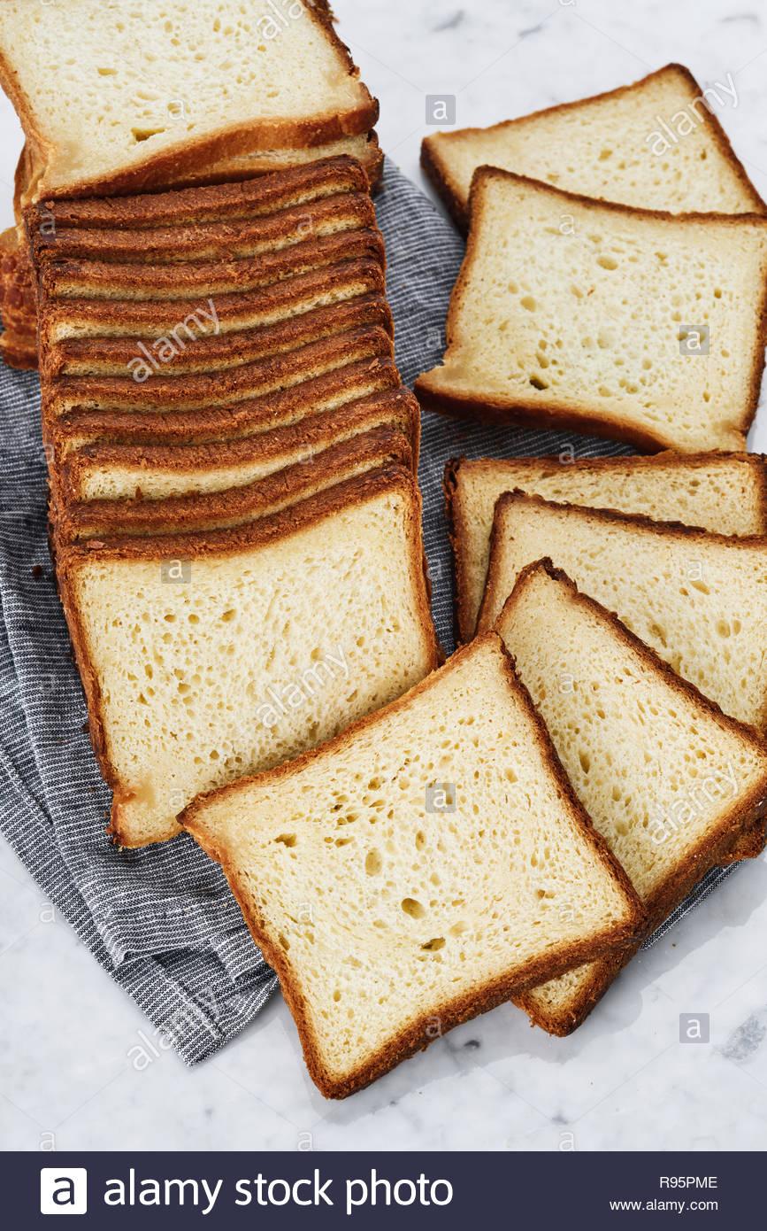 Pain Sandwich sur serviette de table, Close up Banque D'Images