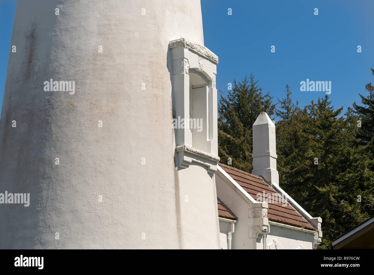 Section centrale de l'Umpqua historique phare dans l'Oregon, USA Photo Stock