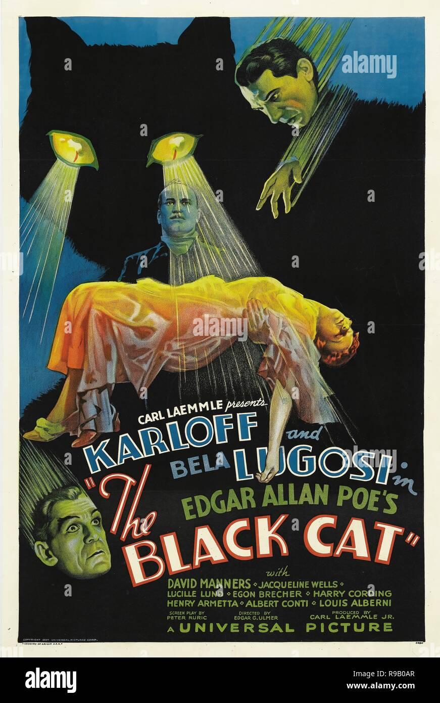 Film Original Titre: LE CHAT NOIR. Titre en anglais: LE CHAT NOIR. Année: 1934. Directeur: EDGAR ULMER. Credit: UNIVERSAL PICTURES / Album Banque D'Images