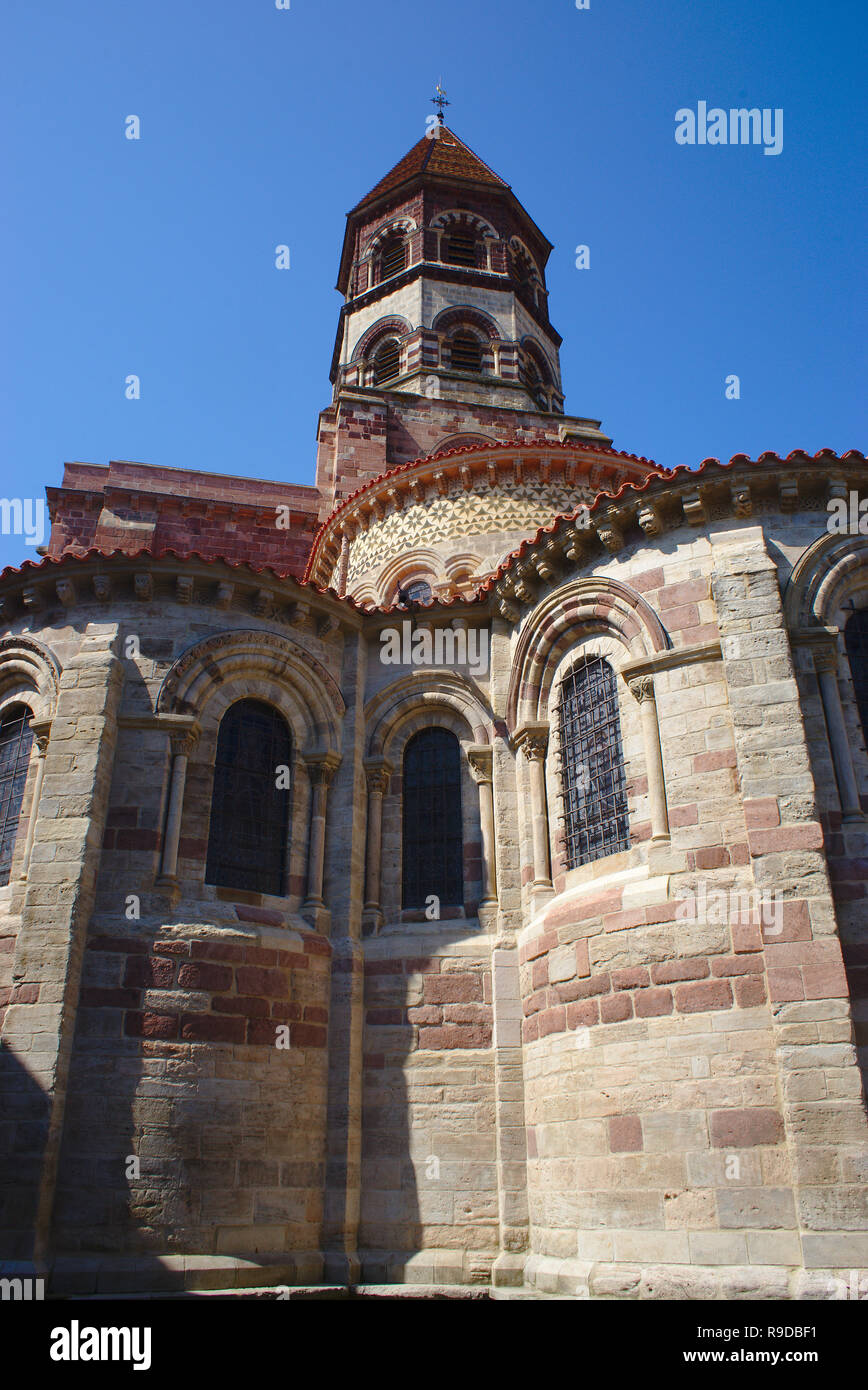 Basilique Saint-Julien de Brioude, en Haute-Loire, de style roman auvergnat Banque D'Images