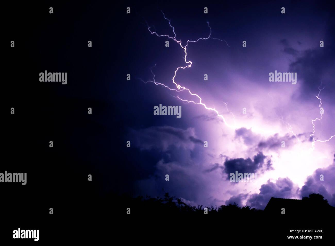Thunder strike en plein Banque D'Images