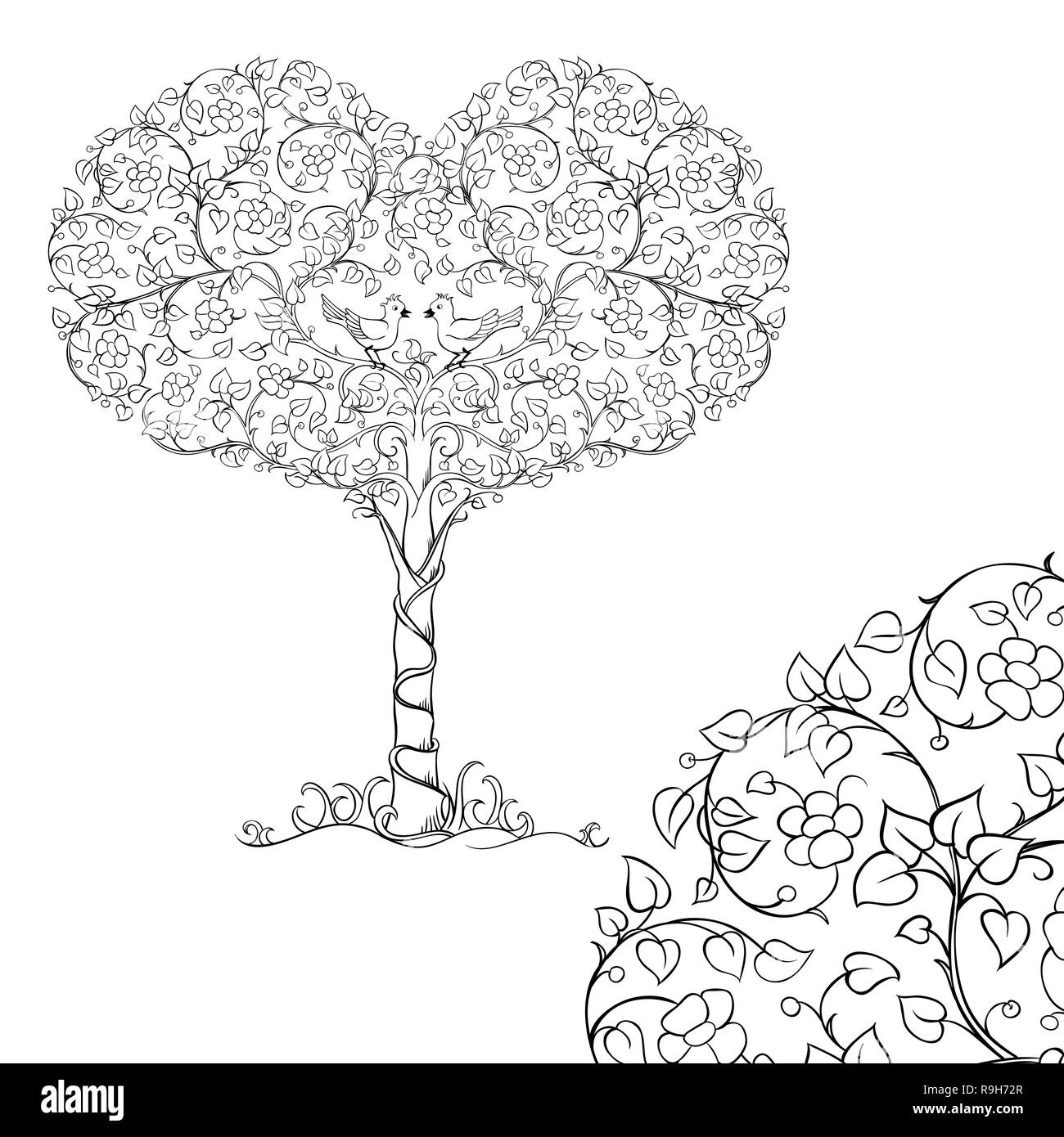 Coloriage Arbre Anti Stress.Pages De Livre De Coloriage Pour Adulte Photos Pages De Livre De