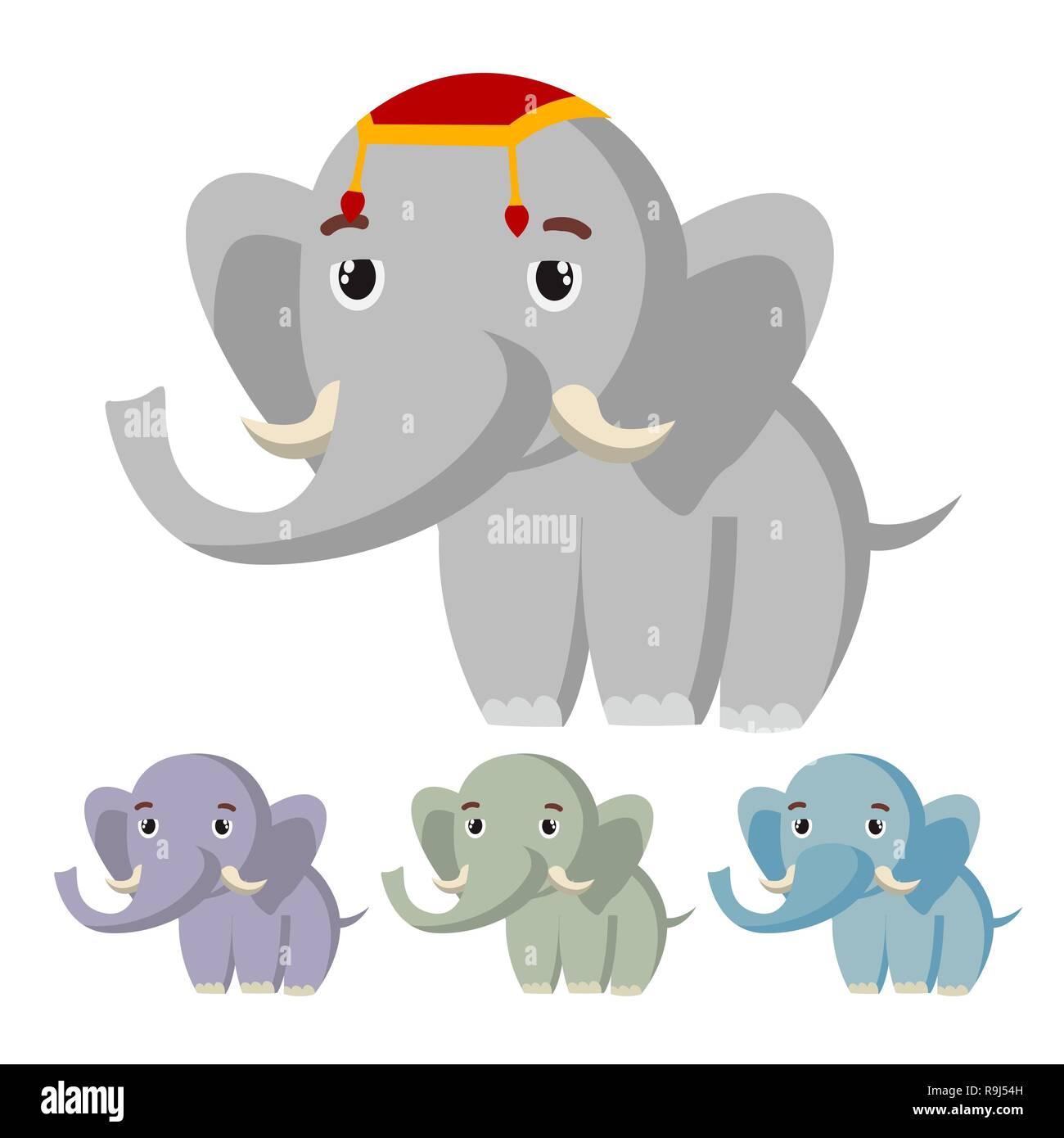 Vecteur de l éléphant. Cute Animal d Afrique. Circus. Cartoon illustration 5b66cb12fff