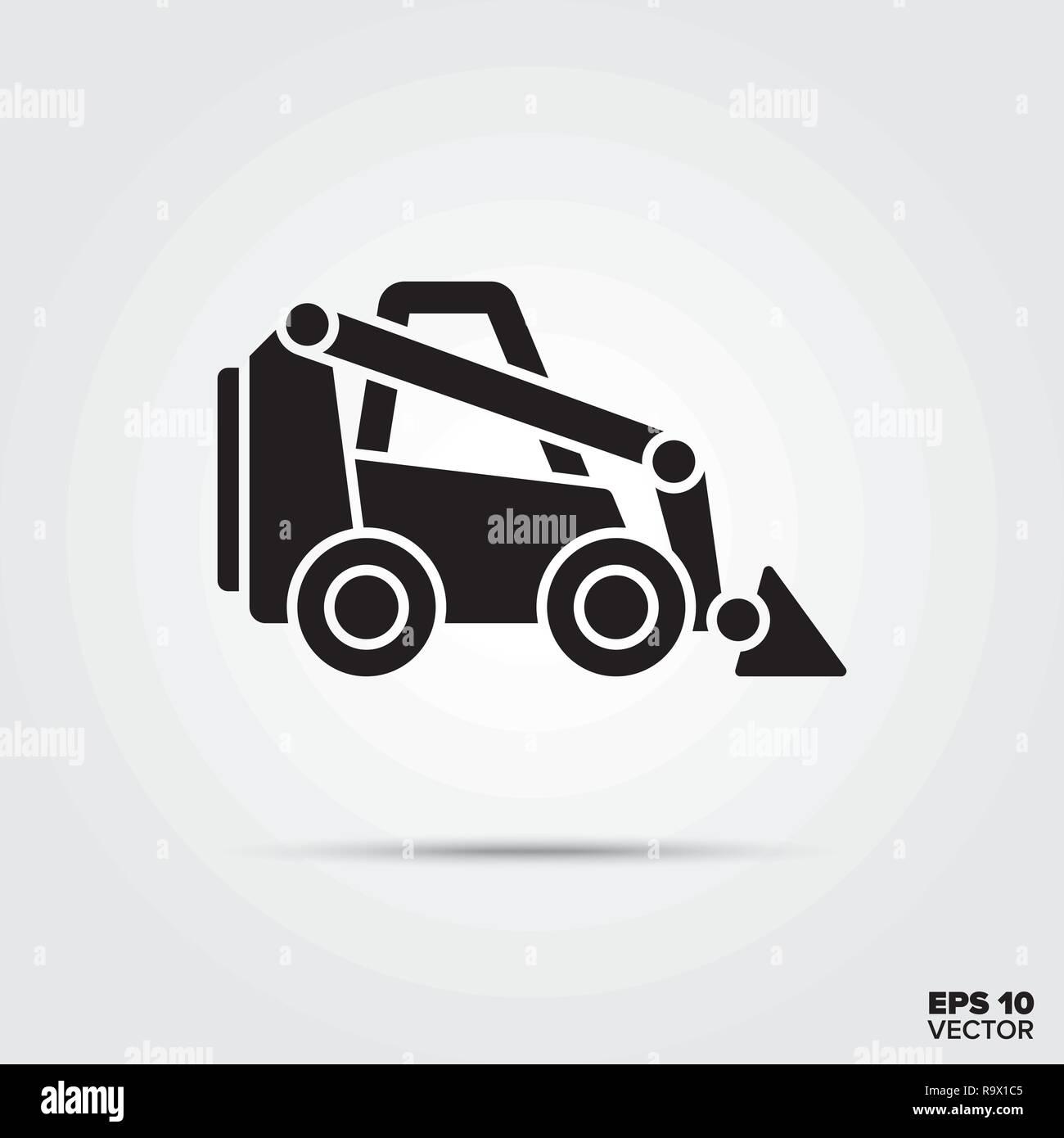 L'icône Auto mini-vecteur. Symbole de l'équipement de construction. Photo Stock