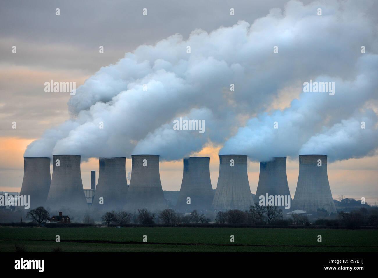 Ratcliffe sur Soar Coal Power Station Nottingham UK Photo Stock