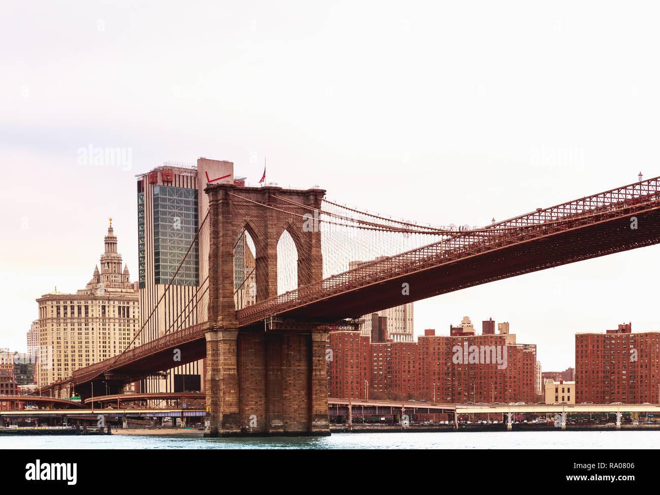 Pont de Brooklyn New York Photo Stock