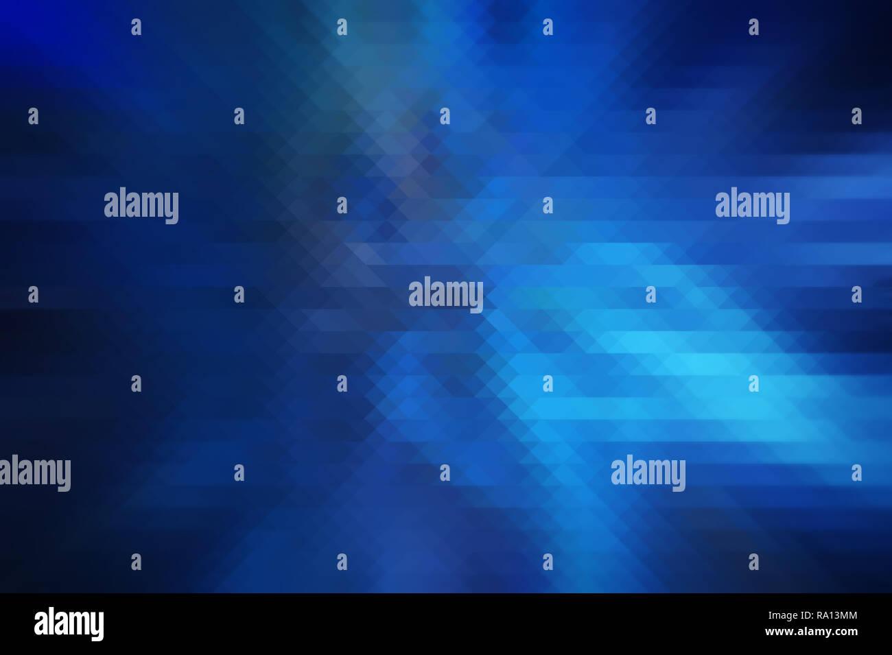 Haute résolution en couleur bleu foncé et turquoise abstract et triangulaire (forme de losange rhombus) Contexte. Geometric background, bords flous. Banque D'Images