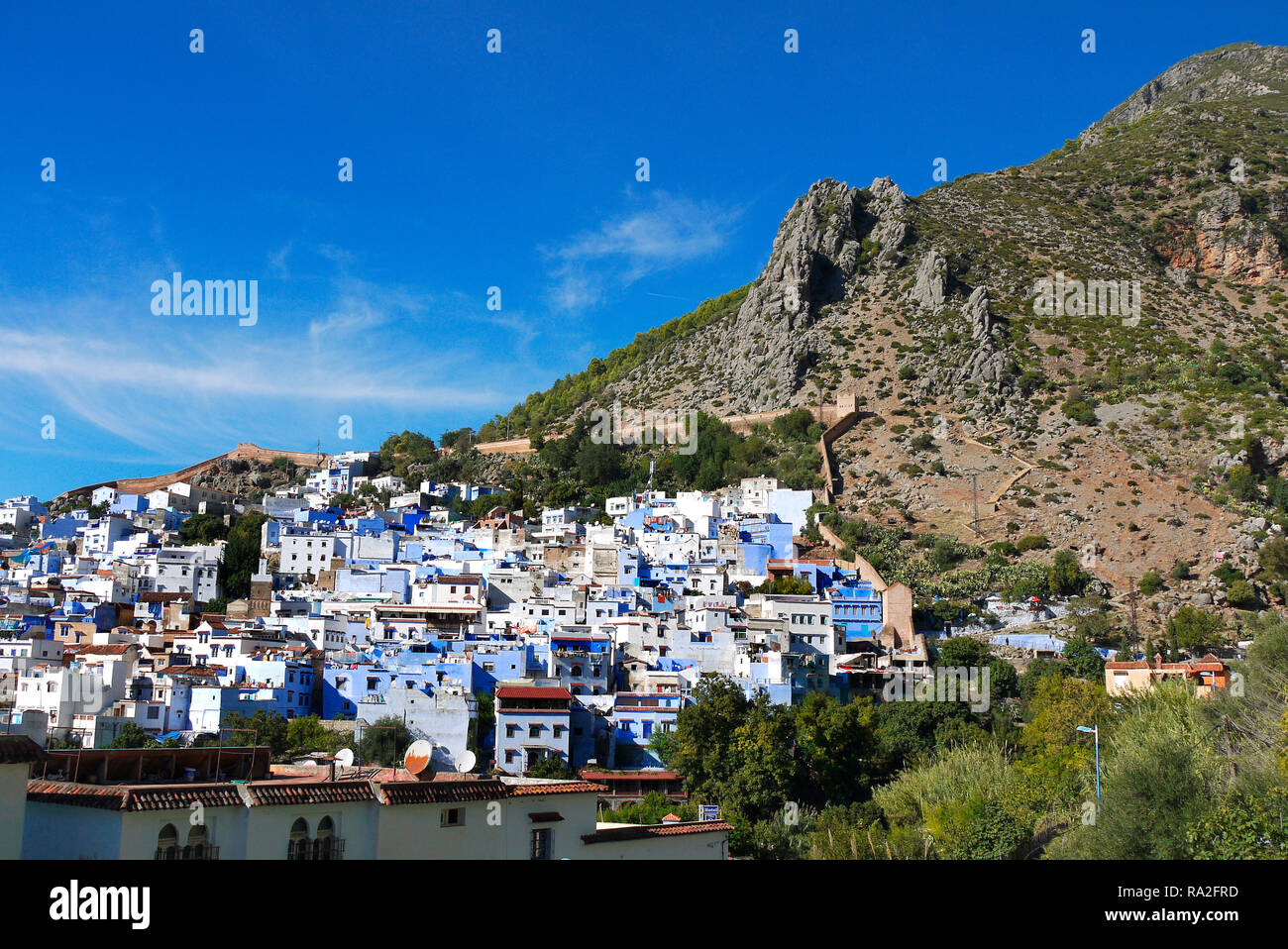 Chefchaouen, Maroc's blue city. Banque D'Images