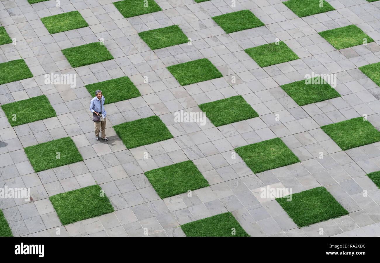 Aménagement paysager à la culte du souvenir à Melbourne. Photo Stock