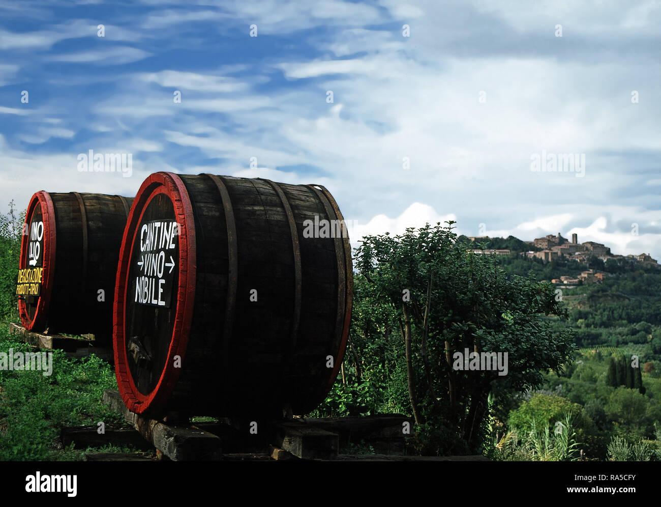 Dégustation de vin, Montepulciano, Italie Banque D'Images