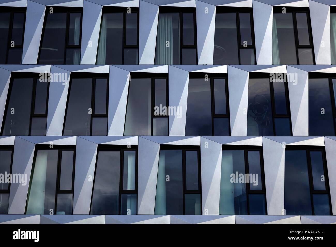 L'architecture, façade de maison, Quartier, DOQU Dorotheen, ARCHITECTE BEHNISCH, Stuttgart, Bade-Wurtemberg, Allemagne Banque D'Images