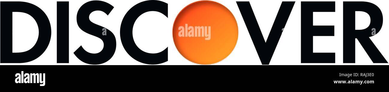 Découvrez le Logo, société de carte de crédit, Allemagne Photo Stock