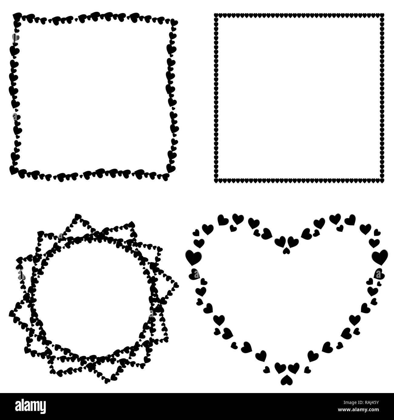 Jeu de cute black love coeur photo pour la saint valentin mariage motif romantique mod le de - Coeur pour la saint valentin ...