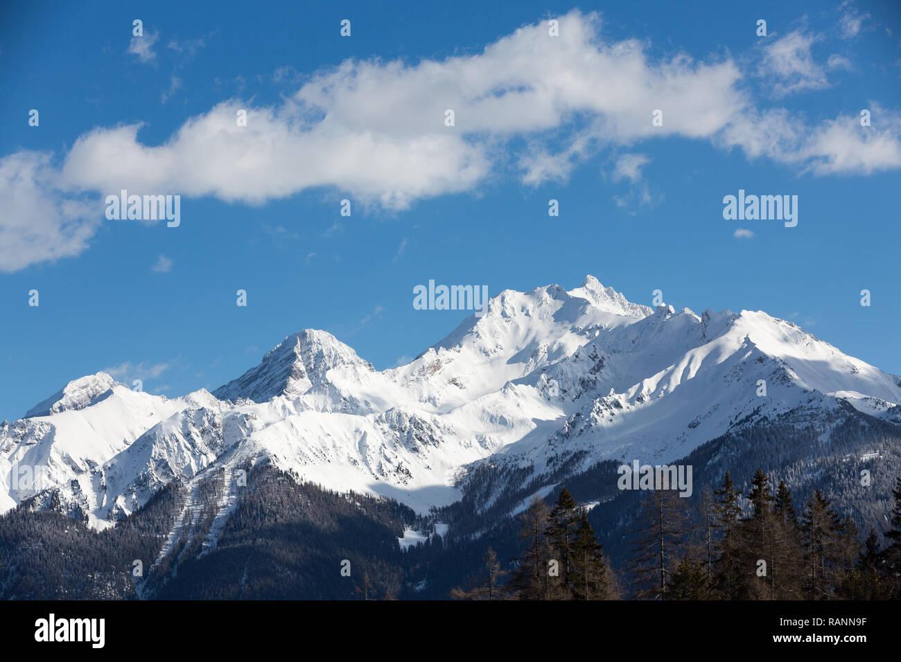 La chaîne de montagne des Grisons Photo Stock