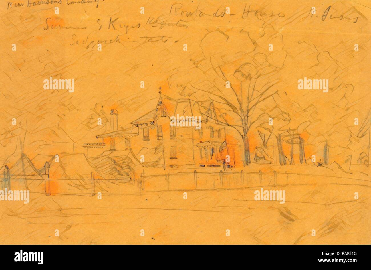 Rowlands Chambre N. Jersey, juillet 1862 ?, dessin sur papier crayon ...
