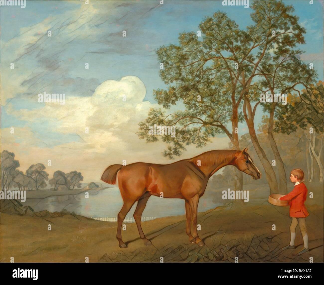 """Avec une citrouille Stable-lad signée et datée, en bas à droite: 'Geo: Stubbs   pinxit 1774"""", George Stubbs, 1724-1806 repensé Photo Stock"""