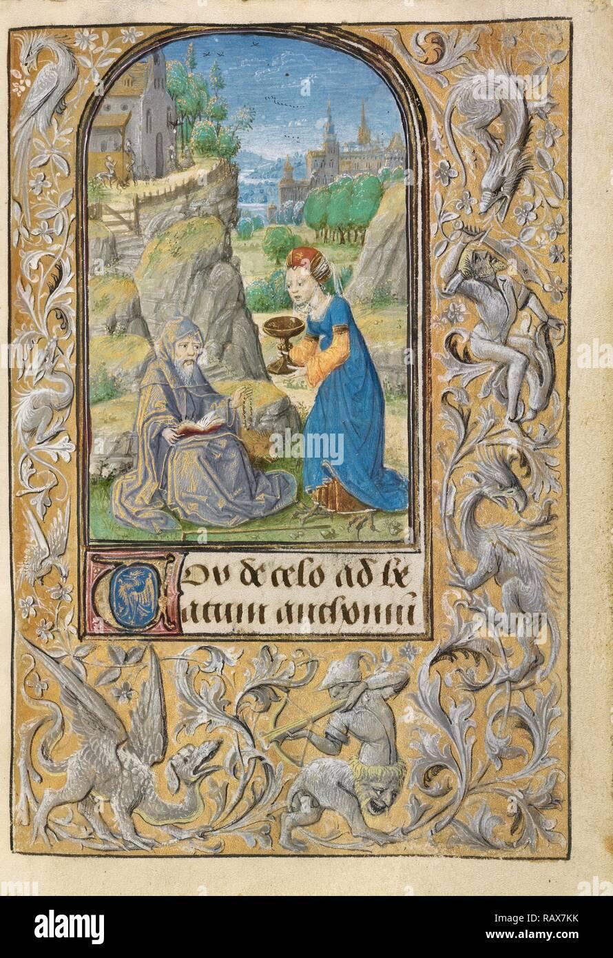 La Tentation de Saint Antoine, Lieven Van Lathem, flamand, environ 1430 - 1493 1454 - 1493, active, Gand (écrit repensé Photo Stock