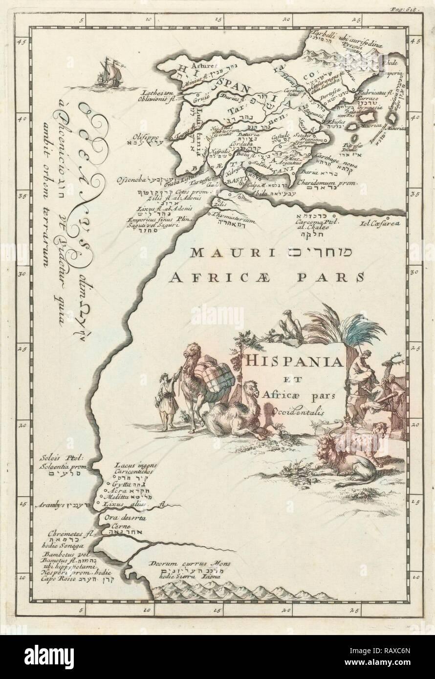Carte Espagne Afrique Du Nord.Carte De L Espagne Et Une Partie De L Afrique Du Nord Jan