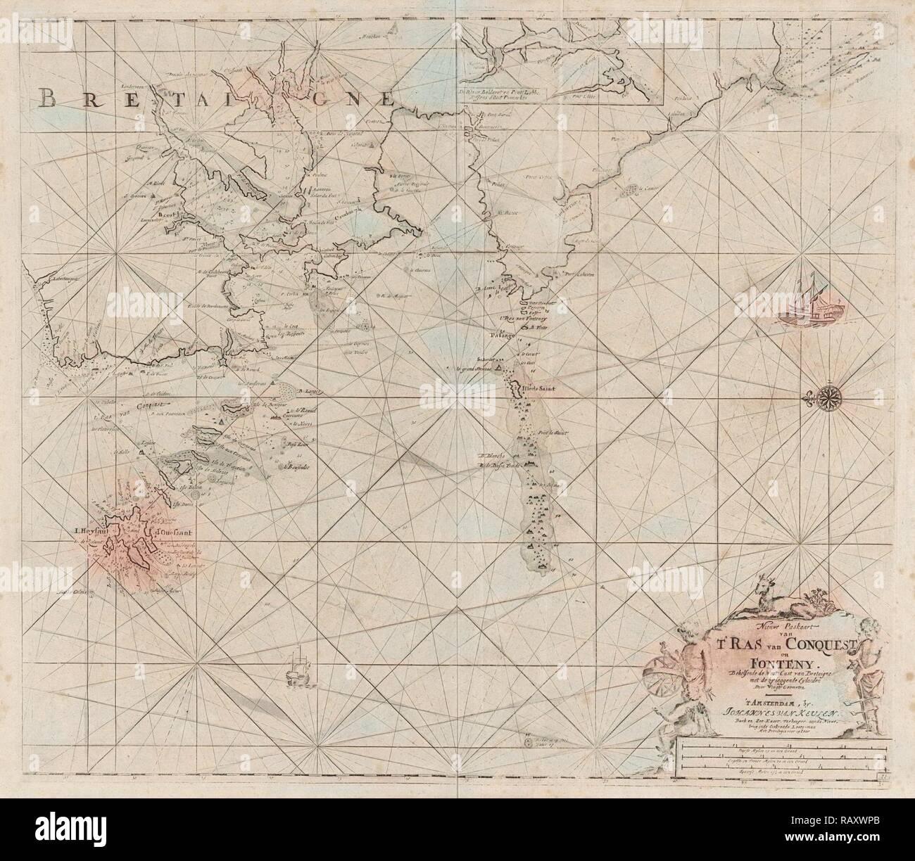 Carte Cote Ouest Bretagne.Carte De La Cote Ouest De La Bretagne Anonyme Claes Jansz