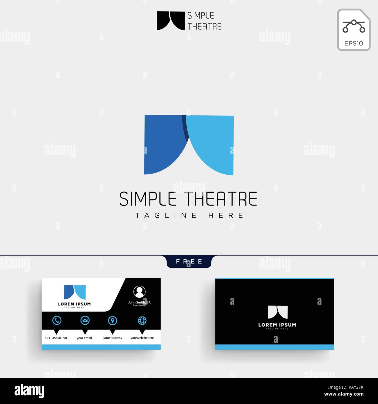 Theatre Simple Logo Template Vector Illustration Et Conception De