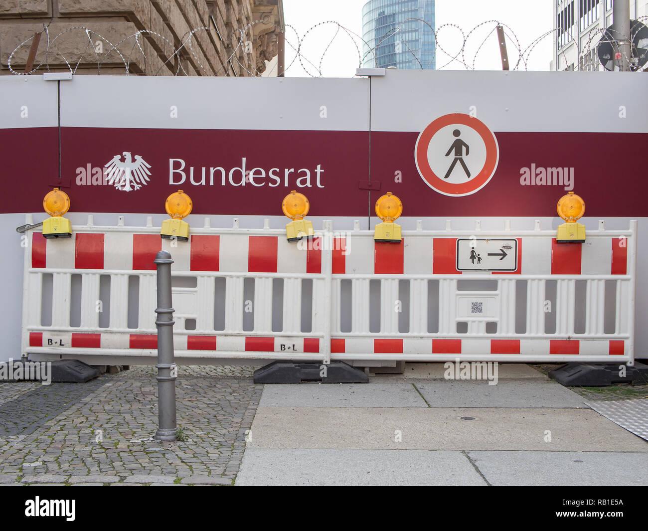 BERLIN, ALLEMAGNE - Juillet 9, 2017: Politique Concept: Les travaux de construction au Bundesrat allemand à Berlin Photo Stock