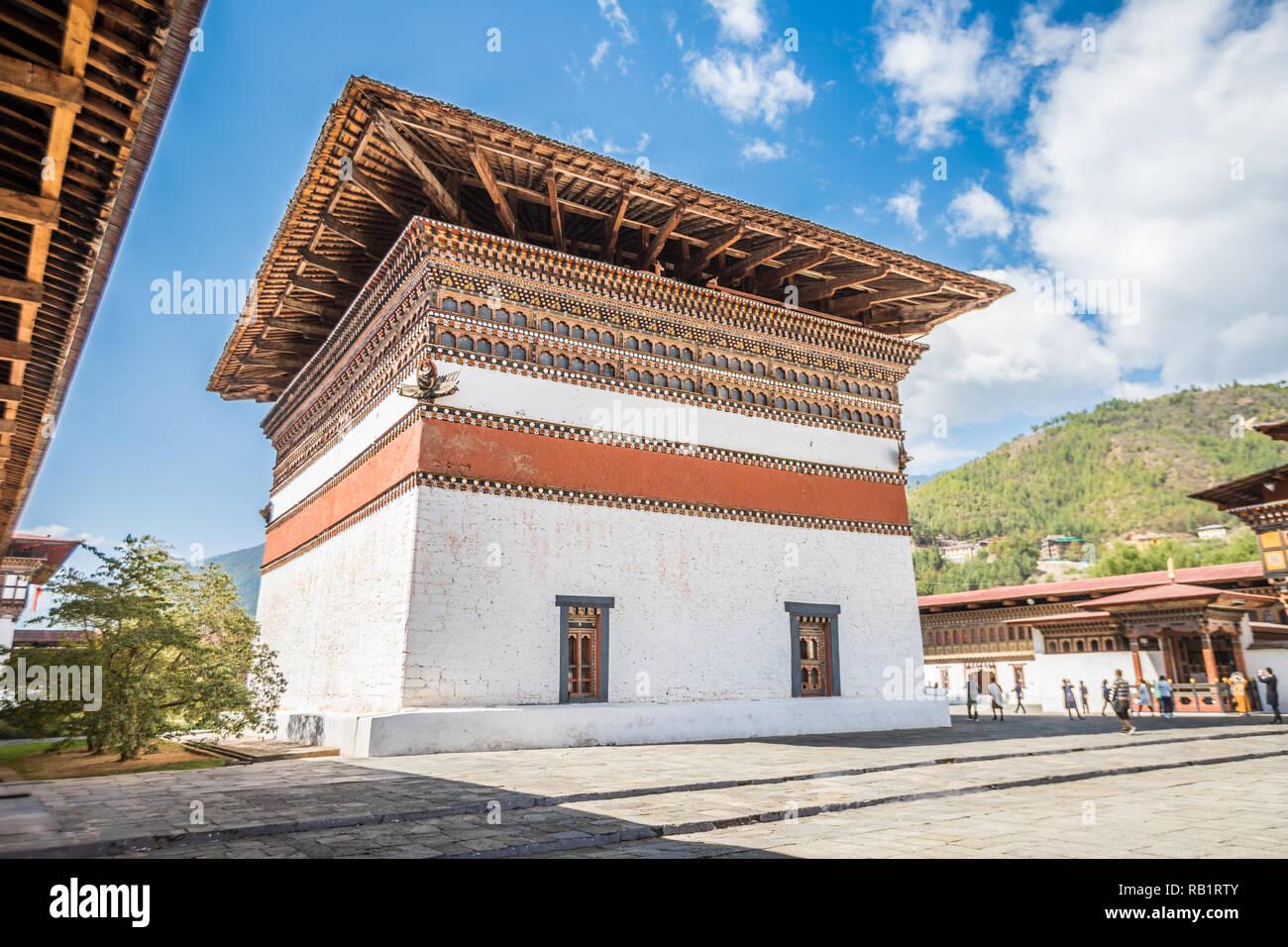 Temple au Bhoutan Thimphu Photo Stock