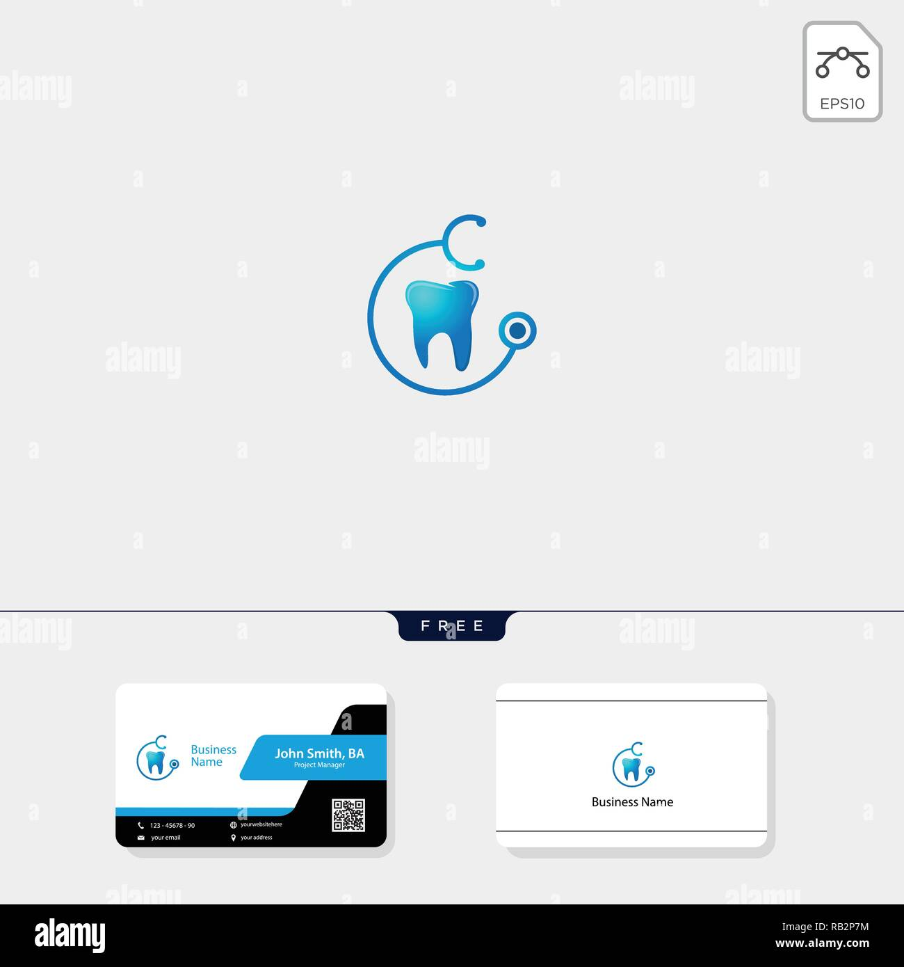 Icone Dentaire Modele Logo Illustration Vectorielle De Conception Carte Visite Gratuit